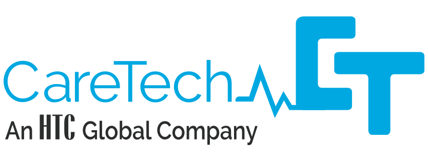 CareTech Sponsor Logo. An HTC Global Company